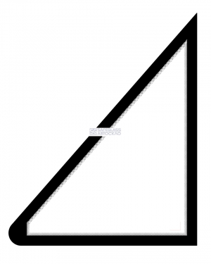 Стекло пятиугольное Газ Рута 25 (08 - ...)