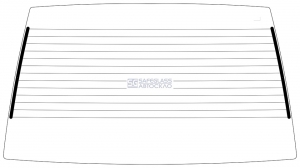 Заднее стекло ВАЗ 2109 (86 - 97)