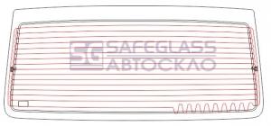 Заднее стекло (заводская тонировка) без стопа Mercedes Vito (96 - 03)
