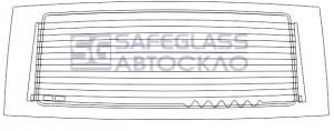 Заднее стекло (заводская тонировка) Mercedes Vito Viano (04 - ...)