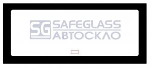 Заднее стекло Mercedes 608 - 808 (64 - 84)