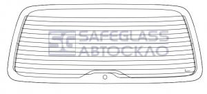Заднее стекло PEUGEOT Partner (96 - 08)