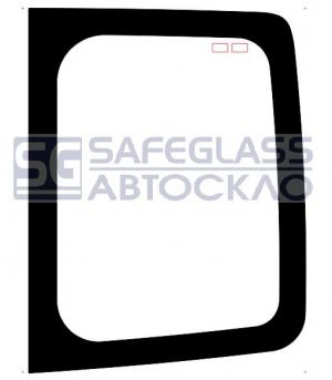 Заднее стекло (нестандарт) высокое Renault Trafic (01 - 13)