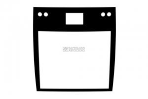 Заднее стекло с местом под габаритные огни, информационное табло Електрон T5L64 (13 - ...)
