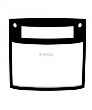 Лобовое стекло c местом под информационное табло и габаритные огни Електрон T5L64 (13 - ...)