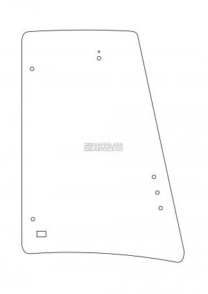JCB 3CX 4CX Кабина P21 Бокове за дверима ліве з отворами
