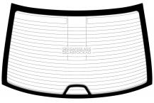 Заднее стекло BMW 5 E39 (95-03)