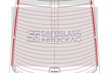 Заднее стекло BMW 7 E38 (94 - 01)