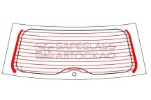 Заднее стекло Ford Fiesta МК V 5 D (02 - 08)
