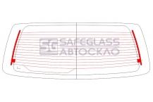Заднее стекло Hyundai H200 (97 - 08)