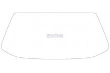 Заднее стекло ЗАЗ Славута 1103 (98 - 11)