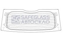 Заднее стекло Nissan Note (06 - 13)