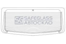 Заднее стекло Renault Trafic (01 - 13)